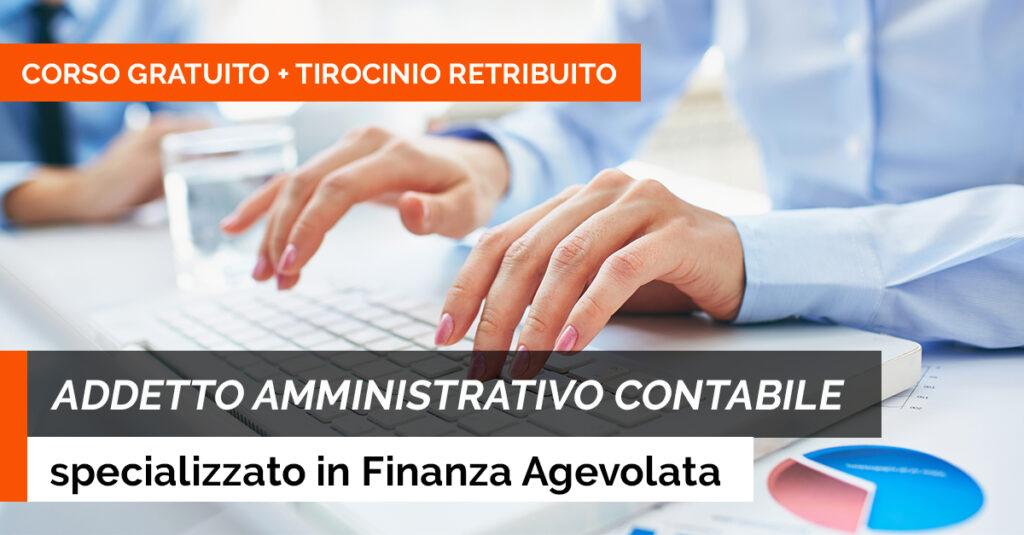 addetto amministrativo finanza agevolata